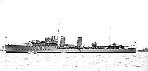 HMS Comet (H00) - Image: HMCS Restigouche (H00) IKMD 03977