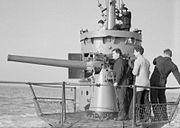 HMSM Sunfish 3 inch gun