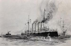 "HMS Good Hope (1901) - ""HMS Good Hope"" by William Lionel Wyllie"