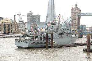 HMS Hurworth, Saturday 3 June preparing for the Diamond Jubilee Pageant of Queen Elizabeth II.JPG