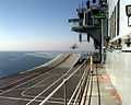 HMS Illustrious (R06) flight deck with Harrier GR7 taking off 1998.JPEG
