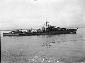 HMS Undine (R42) - Image: HMS Undine 1943 IWM FL 20414