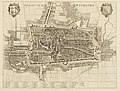 HUA-214021-Plattegrond van de stad Utrecht met directe omgeving met wegen watergangen en gestileerde weergave van de bebouwing en het grondgebruik in opstand met.jpg