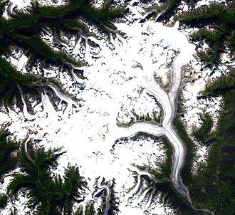 Ha-Iltzuk Icefield - Satellite photo of the Ha-Iltzuk Icefield.