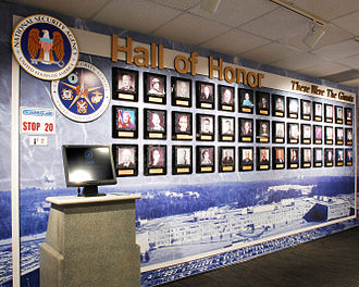 NSA Hall of Honor - The Wall at the NSA Hall of Honor