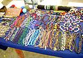 Hand-made accessories for sale at a the port of Chichiriviche.jpg