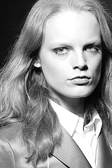 Hanne Gaby Odiele backstage at Marc Jacobs
