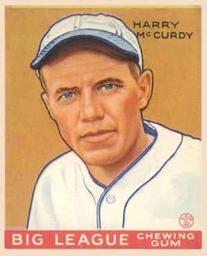 Harry McCurdy - Harry McCurdy 1933 Goudey baseball card