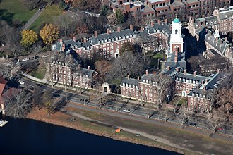 Eliot House (Harvard College) - Eliot House on the Charles River