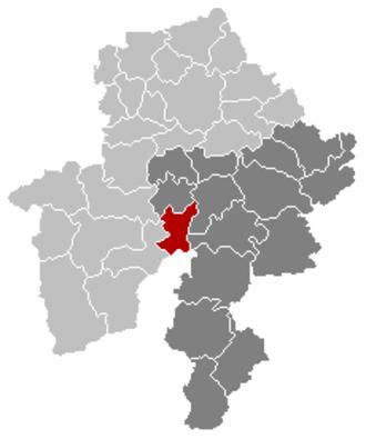 Hastière - Image: Hastière Namur Belgium Map