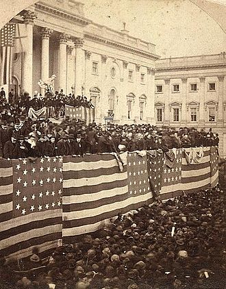 Inauguration of Rutherford B. Hayes - Rutherford B. Hayes being sworn in as President of the United States.
