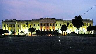 Hazarduari Palace - The grand palace of Hazarduari illuminated at night