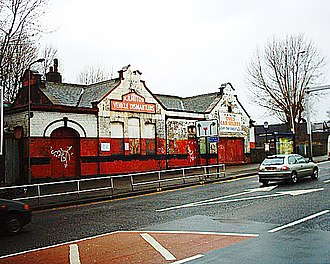 Heeley railway station - The station building in 2006