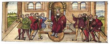 Homage to Heinrich (VII.) In Würzburg as Roman-German King, 1234.