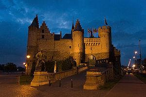 Het Steen - The castle at night