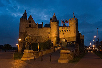 Het Steen - The castle at night