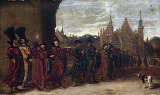 Russian ambassadors at the Binnenhof in The Hague