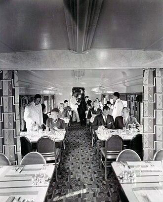 Hiawatha (train) - Interior of the dining cars on the Hiawatha, 1939