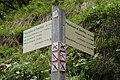 Hiking sign at the Cascade de la Pleuruse and the Cascade de la Sauffaz - panoramio.jpg