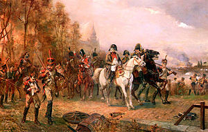 """Napoleon with His Troops at the Battle o..."