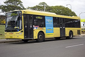 ComfortDelGro Australia - Hillsbus Volgren bodied Scania K230UB at Castle Hill bus interchange in July 2013