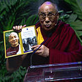 His Holiness the Dalai Lama encrourages Compassion and talks about that inspired powerful meeting between he and Thomas Merton. (8879538109).jpg