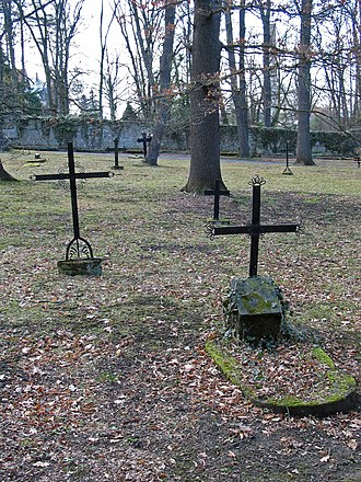 Historical Cemetery, Weimar - Graves in the west half of the cemetery