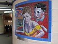 Hitchcock mural (Rebecca), Leytonstone tube station, London, 2013.jpg