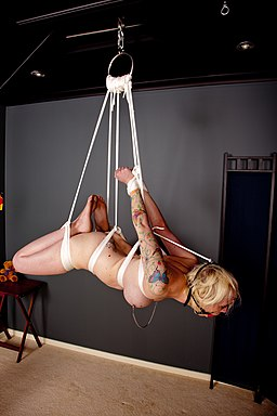 Hogtie suspension bondage