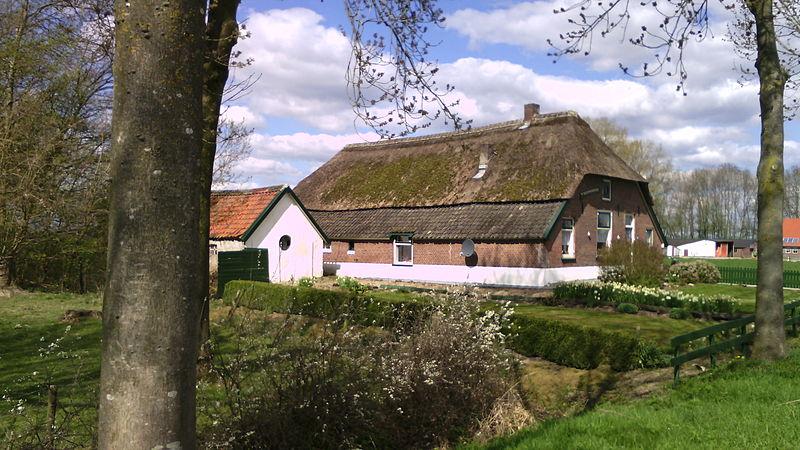 Bestand:Hollanderbroeksestraat 15 Hallenhuisboerderij t Veldhoentje met bakhuis op lage terp.jpg