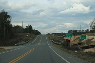 Holmes County, Florida - The Holmes County sign at Bonifay on Florida State Road 79.