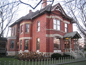 DeKalb, Illinois - A home in the neighborhood north of downtown DeKalb, near the Gurler House.