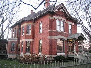 DeKalb, Illinois - A home in the neighborhood north of downtown DeKalb, near the Gurler House.