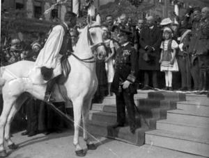 Serbian-Hungarian Baranya-Baja Republic - Horthy in Pécs, October 1921.