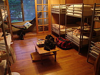 Hostel - Hostel dormitory room in Taiwan.