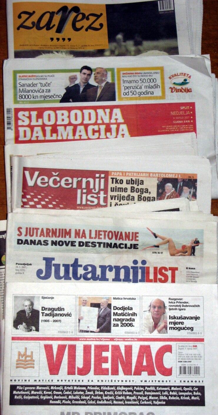 Hrvatske tiskovine 0707