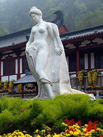 Yang Guifei - A modern statue of Yang