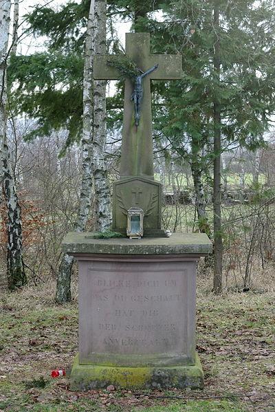 Hubertuskreuz Auersmacher auf der Barbarahöhe
