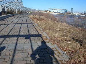Hudson River Waterfront Walkway - Walkway adjacent to Liberty National Golf Course