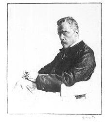 Hugo Wolf, nach einer Photographie radiert von Ferdinand Schmutzer (1921) (Quelle: Wikimedia)
