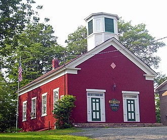 Deerpark, New York - The Huguenot Schoolhouse, now the historical museum of Deerpark