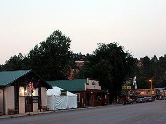 Hulett, Wyoming - Main Street (WY Hwy 24) in Hulett