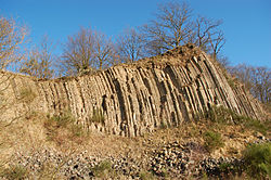 Hummelsberg Basalt Säulen 1.JPG