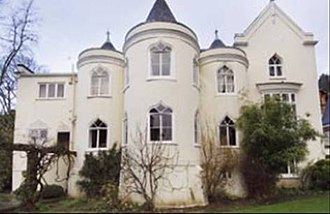 Strawberry Hill House - Hunters Lodge, a house in the Strawberry Hill Gothic style in North London, built c. 1800