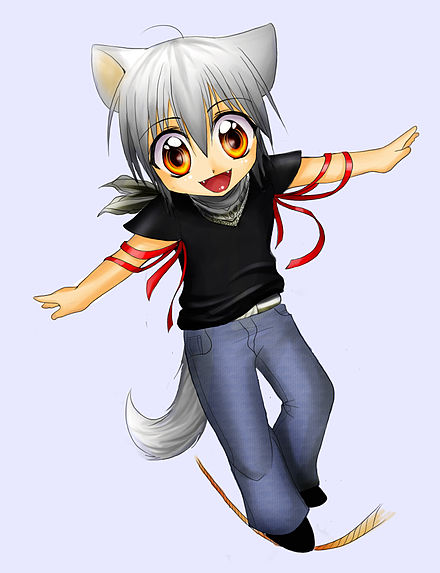 "Example of kawaii art. ""Cute"" art such as this is unpopular with some players. Husky-Chibi.jpeg"