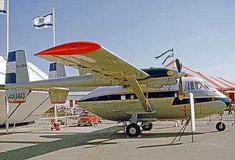 IAI Arava - Arava 201 of the El Salvador Air Force displayed at the 1975 Paris Air Show prior to delivery
