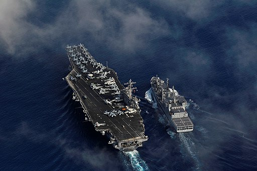 INS Shakti replenishing USS Carl Vinson