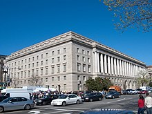A photograph of the neoclassical Internal Revenue Service headquarters building in Washington, D.C.