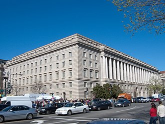"""501(h) election - The Internal Revenue Service (headquarters pictured) regulates lobbying by tax-exempt organizations.  Most 501(c)(3) organizations may switch from a subjective """"substantial part test"""" to an objective """"expenditure test"""" by making a 501(h) election."""
