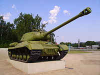 IS-2 tank Monument at WWII Memorial in Shatki.JPG